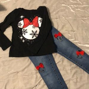 Minnie Mouse pants and top